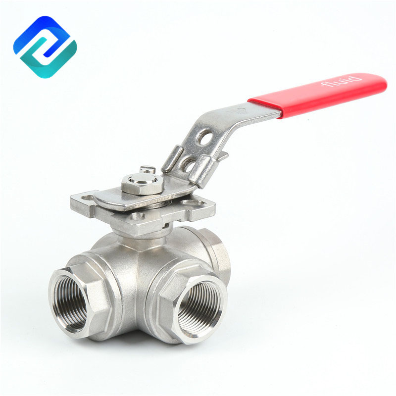 What are the differences between L-type and T-type three-way ball valve?
