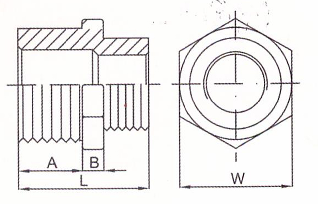 investment precision casting reducer hex joint drawing
